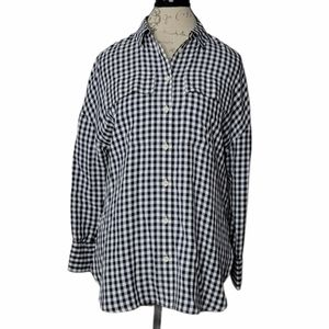 NWT TiBi Black & White Gingham Button Down Shirt
